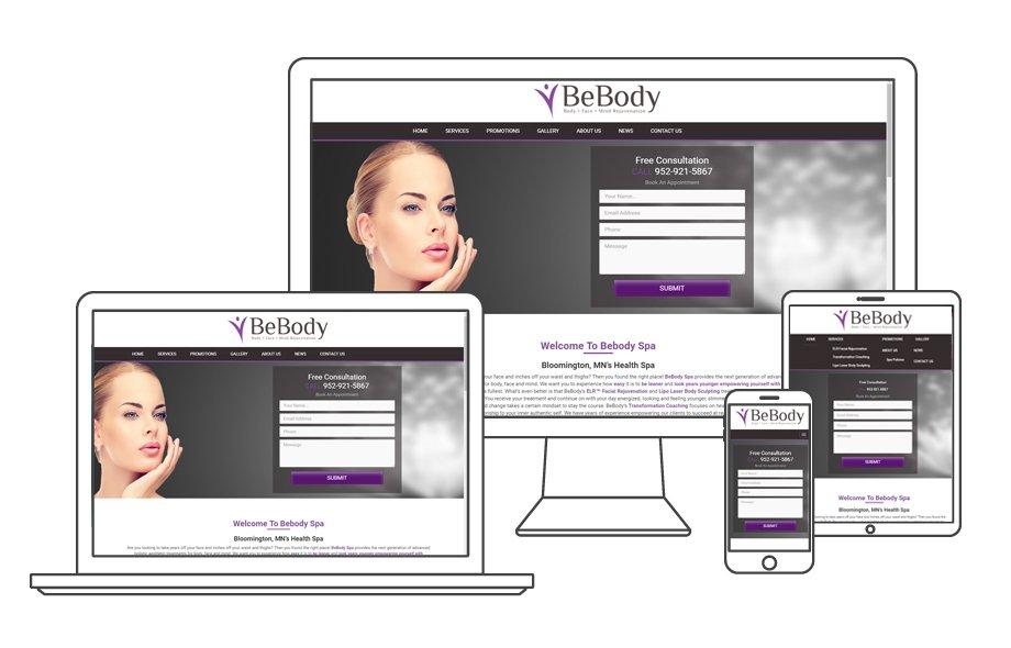 Spa Responsive WordPress Website Development