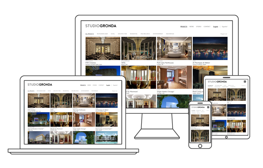 Architecture and Interior Design Responsive Website Design and Development
